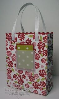 Giftbag tutorial for 2 different sizes
