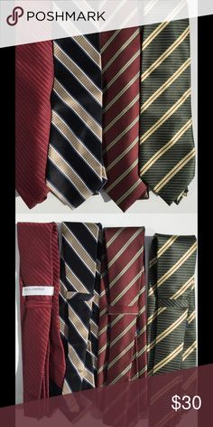 Henry Jacobson And Other Brands Tie Bundle Henry Jacobson and other Brands Striped Tie Bundle. Henry Jacobson Accessories Ties