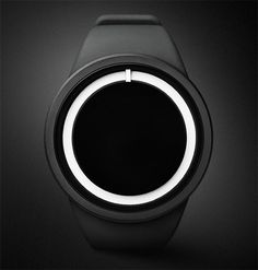 Ziiiro Eclipse Watch. Would totally get this if only I thought I could use it to tell time...