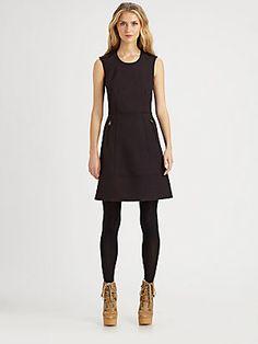 Burberry Brit Wool-Blend A-Line Dress $495 beautiful!