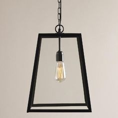 Four-Sided Glass Hanging Pendant Lantern | World Market