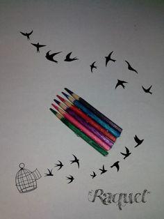 palillos a modo de lápices d colores