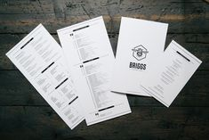 Keep it simple. Keep it awesome. Restaurant Menu Design for Briggs