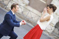 """Uno shooting fotografico che immortala la proposta di matrimonio: un modo romantico per annunciare al mondo """"ci sposiamo!"""""""