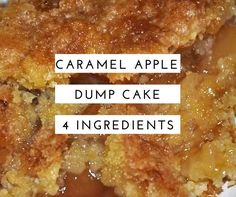 Good recipe, made it exactly as in the recipe. Next time I am going to try putting some diced granny smith apples in with the pie filling. the texture was fine for me but my husband wanted a firmer bite to the apple part. Caramel Apple Dump Cake, Apple Dump Cakes, Dump Cake Recipes, Caramel Apples, Dessert Recipes, Apple Cake, Crockpot Apple Dump Cake, Frosting Recipes, Carrot Cake