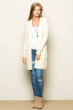 Colorful Sprinkle Open Sweater Cardigan