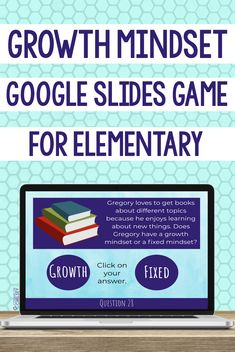 Help your students learn the difference between a growth mindset and a fixed mindset with this Google Slides game. They will look at 30 scenarios and determine whether or not it is an example of a growth mindset. This activity is great for helping students have a mindset for success! It can be used in individual, small group and classroom counseling lessons focused on growth mindset, executive functioning or perseverance. It is also great to use during distance learning. #GrowthMindset