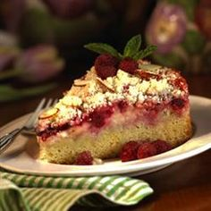 Raspberry Cream Cheese Coffee Cake ~ Have made this so many times.  Wonderful!!  Pretty to look at too.
