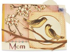 Recollections Cherry Blossom Bird Card