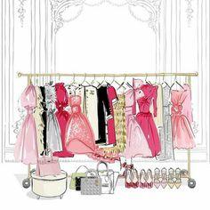 Megan Hess Illustration, Fashion Illustration Sketches, Illustration Girl, Fashion Sketches, Illustrations, Fashion Artwork, Fashion Wall Art, Logo Online, Restaurant Logo