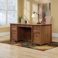Sauder Edge Water Executive Desk, Auburn Cherry