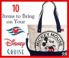 There are some things you will need to make sure you bring with you on a Disney Cruise.