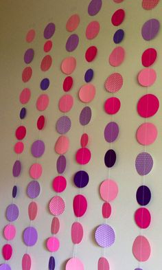 Polka Dot Party Garland on Etsy, $10.00
