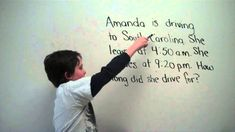 Elapsed Time Number-Line - a really great video on teaching elapsed time by kids FOR kids!