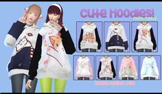 Cute hoodies for females!• MESH by @sims4-marigold and you need to download here. • 7 different styles. • Morphs avaliable. • CAS thumbnail. • DOWNLOAD (simfiles) Enjoy!