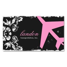 GC | AVIATION TAKE OFF Charcoal Damask Business Cards. This great business card design is available for customization. All text style, colors, sizes can be modified to fit your needs. Just click the image to learn more!