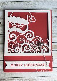 """Laura Milligan, Stampin' Up! Demonstrator - I'd Rather """"Bee"""" Stampin!: Stamper's Dozen Blog Hop - Shaker Cards   Detailed Santa thinlet"""