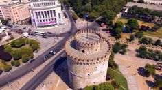 Λευκός Πύργος Θεσσαλονίκη | White Tower Thessaloniki Thessaloniki, Greece, Sidewalk, Cinema, City, Beautiful, Videos, Greece Country, Movies