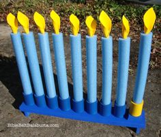 Swim Noodle Menorah2 change to use for girl scout candle ceremonies?