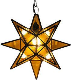 Amber Glass Star lantern