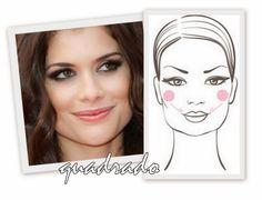 Studio B Hair & Make-up: Dicas de Make-up Rosto Quadrado