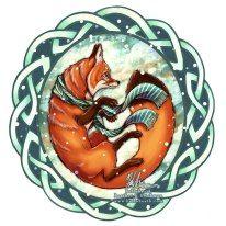 Celtic fox holidays Celtic Christmas, Christmas Time, Christmas Cards, Irish Traditions, Christmas Traditions, Fantastic Fox, Holiday Images, Winter Solstice, Winter Holidays