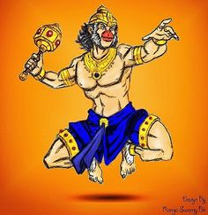 Digital Art Digital Painting Photoshop by Ranga swamy Bk #digitalart #photoshop #sketch #colouring #cartoon #artist #lordhanuman