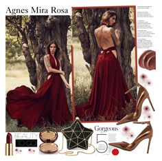 """""""Agnes Mira Rosa"""" by gaby-mil ❤ liked on Polyvore featuring Dune, Aspinal of London, Urban Decay, Wander Beauty, dress and agnesmirarosa"""