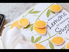 (345) How To Stamp Lemon Tree Branches Pattern - YouTube