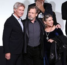 Harrison Ford + Mark Hamill + Carrie Fisher @ Star Wars the Force Awakens premiere_14-12-2015