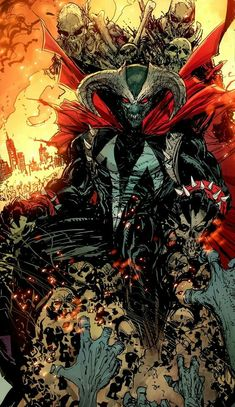 Omega Spawn on throne Comic Book Characters, Comic Book Heroes, Comic Character, Comic Books Art, Comic Art, Spawn Comics, Marvel Dc Comics, Marvel Heroes, Anime Comics