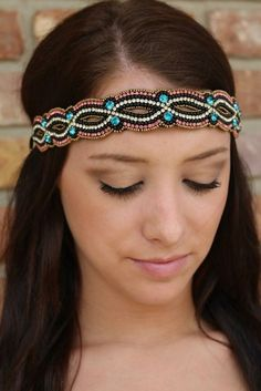 "Luna Boutique - ""Abby"" Pink Pewter Headband, $60.00 (http://www.shoplunaboutique.com/abby-pink-pewter-headband/)"