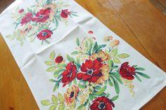 1950s NOS Kitchen towel SnowyCreekDesigns