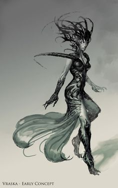 "bugmeyer: "" Vraska - Early Concept I didn't realize it until recently, but Vraska, The Unseen was based off of a concept that I had pitched for the Golgari guild leader during the concept push. My..."