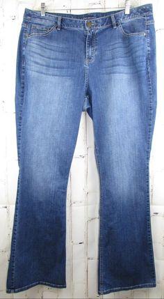 0104f310807e0 Lane Bryant womens Jeans 20 Long Generous Fit Boot Cut Stretch Blue Tall  42x35.5 #LaneBryant #Boot