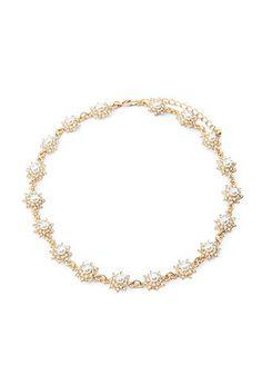 Faux Pearl Flower Choker | Forever 21 - 1000164583