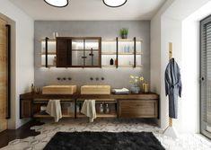Industriální koupelna | AŤÁK DESIGN Double Vanity, Bathroom, Design, Washroom, Full Bath, Bath, Bathrooms, Double Sink Vanity