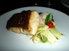 Pan Seared Grouper - with a fresh vegetable salad