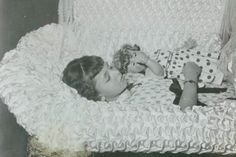 it seems even sadder when you can tell it was not in the 1800s. The doll looks to be from the 40's or 50's. Death in children was becoming more of a rarity in that time.