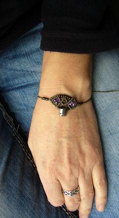 Flechtarmbänder - * Armbändchen Makramée macrame * - ein Designerstück von crochet bei DaWanda