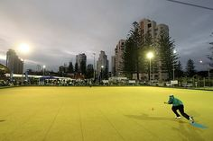 Lawn bowling in Queensland, Australia.