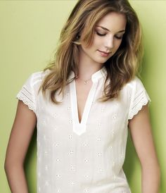 Emily VanCamp- love the blouse