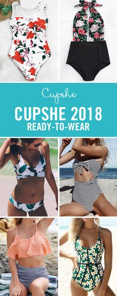 CUPSHE 2018 READY-TO-WEAR! Get your swimsuit ready for the beautiful beach~ Shop the hottest items of this season at a surprising price! Free Shipping NOW! :)