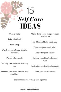 Self care is essential. Here's how you can easily fit it into your schedule.