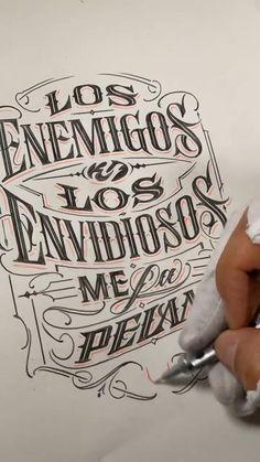 Tattoo Lettering Design, Chicano Lettering, Graffiti Lettering Fonts, Calligraphy Tattoo, Graffiti Tattoo, Creative Lettering, Tattoo Fonts, Hand Drawn Typography, Tattoo Lettering Alphabet
