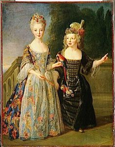 Mademoiselle de Bethisy and Her brother Eugene-Eleonore de Bethisy by Alexis Simon Belle    1st quarter 18th century