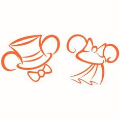 Bride and Groom Disney Mickey and Minnie Mouses Ears with Hat and Bow ...