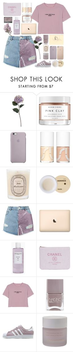 """""""Lavender Love"""" by tazzibear ❤ liked on Polyvore featuring Pier 1 Imports, Herbivore, Uslu Airlines, Diptyque, Korres, Miss Selfridge, Sachajuan, WithChic, Nails Inc. and NARS Cosmetics"""