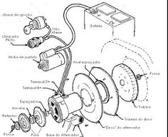 Wiring diagram VW beetle sedan and convertible 1961-1965