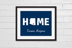 Arizona Home Map Print  Any City  Custom Map by TheMapCollection
